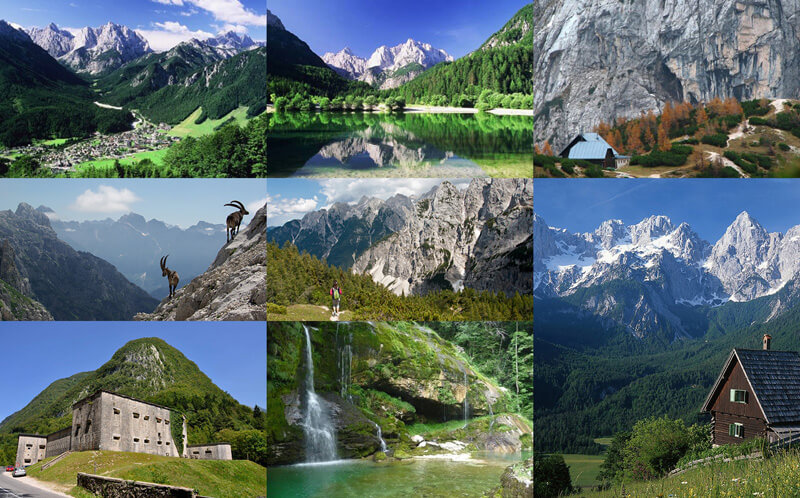 Ups and downs in Julian Alps